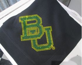 Baylor BU Stadium Blanket Green Gold