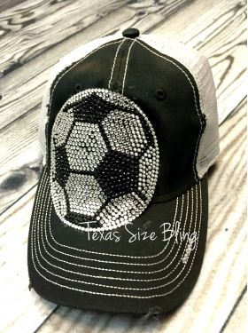 Bling Soccer Ball Hat - Texas Bling