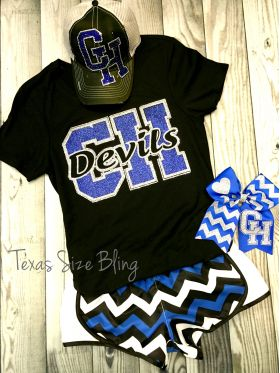 Central Heights Hair Bow - Texas Bling