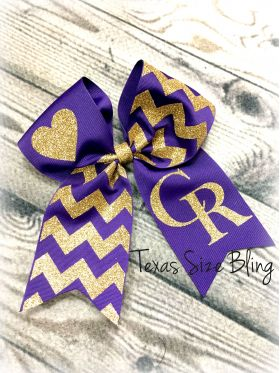 Center Hair Bow - Texas Bling