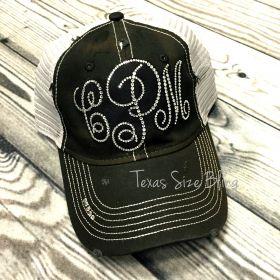 Bling Monogram Hat - Texas Bling