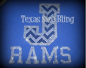 Joaquin Rams Chevron Stadium Blanket - Texas Bling