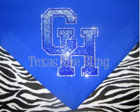 Central Heights Ombre Stadium Blanket - Texas Bling
