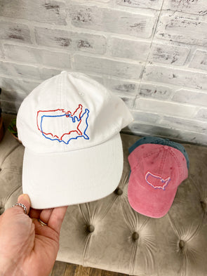 Merica Cap- White - Texas Bling