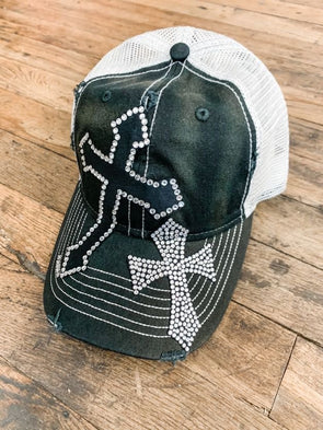 Bling Crosses Hat