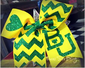 Baylor Hair Bow - Texas Bling