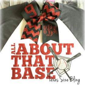 Monogram Hair Bow - Texas Bling