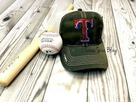 Texas Distressed Black Hat - Texas Bling
