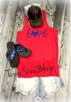 Texas Love Red Tank