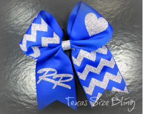 Robinson Rockets Hair Bow - Texas Bling