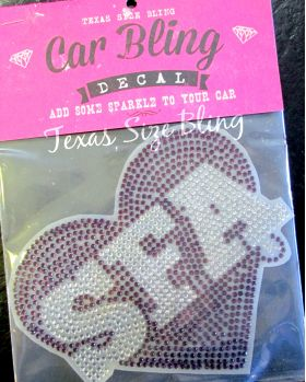 SFA Heart Car Bling - Texas Bling