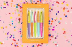 Complimentary Colored Ink Pen Set - Texas Bling