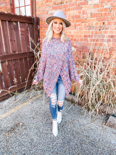 Posie Oversized Poncho Sweater