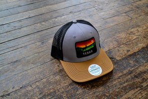 Texas Horizon Hat- Grey/Caramel/Black - Texas Bling