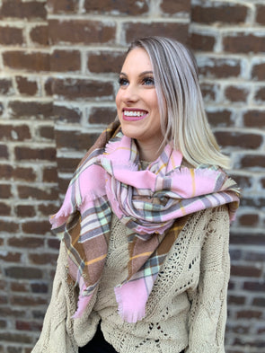 Amalia Scarf- Dust Pink - Texas Bling