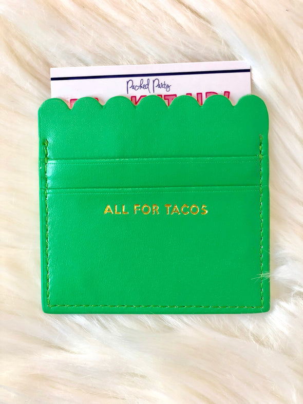 All For Tacos Scalloped Card Holder - Texas Bling