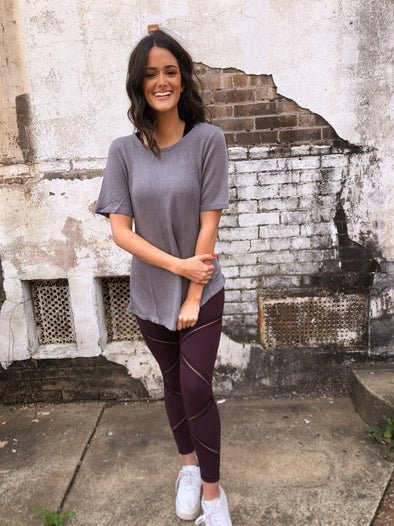 Kyleigh Leggings- Plum