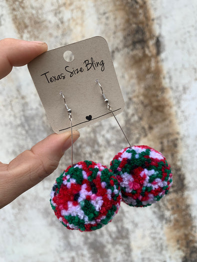 Lexie Pom-Drop Earrings - Texas Bling