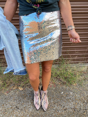 Alayne Sequin Skirt