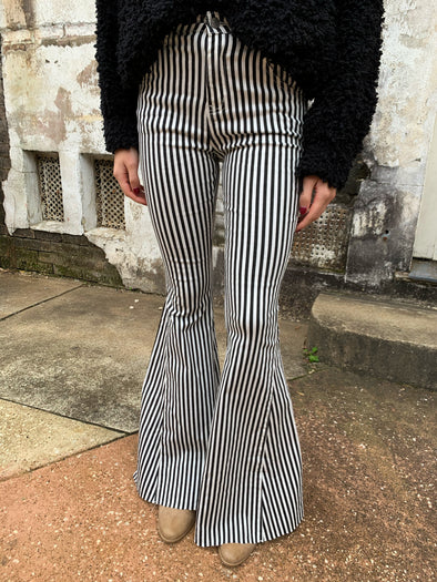 Joelle Striped Flares