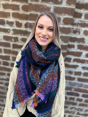 Sutton Scarf- Black - Texas Bling