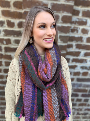 Sutton Scarf- Brown - Texas Bling