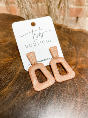 Zoey Clay Earrings- Copper