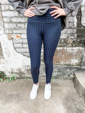 Eden Textured Houndstooth Highwaist Leggings