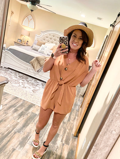 Rosalyn Romper- Clay - Texas Bling