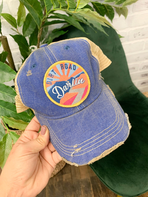 Sunset Dirt Road Patch Hat