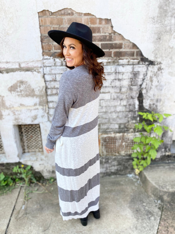 Taylor Striped long Cardigan