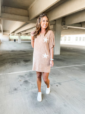 Elizabeth Mineral Washed Star Dress