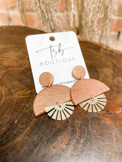 Scarlett Clay Earrings- Copper