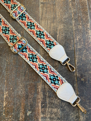 Bag Strap- Embroidered Floral Adjustable Strap