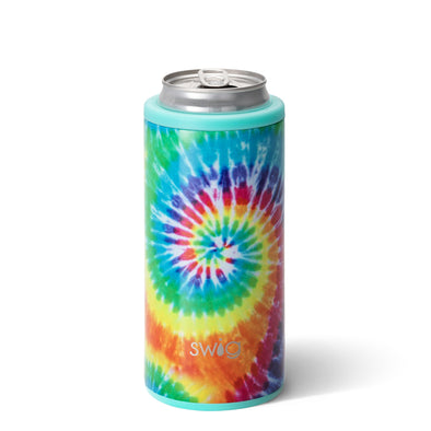 Printed Skinny Can Cooler- Swirled Peace