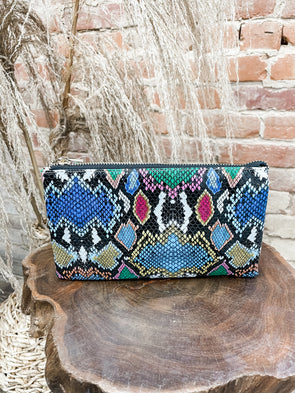 Liz Crossbody Bag Straw- Snake Multi Graffiti