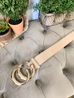 Large GiGi Belt- Nude