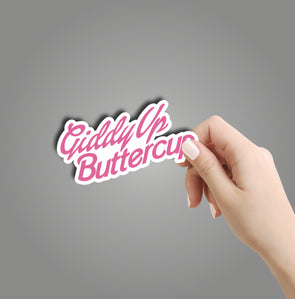 Giddy Up Buttercup Sticker