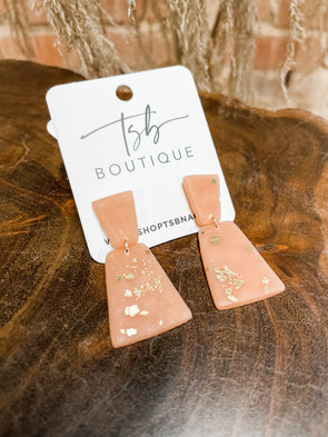 Joy Clay Earrings- Beige