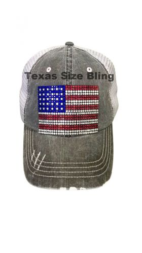 USA Flag Hat - Texas Bling