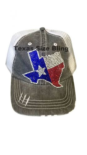 Bling Texas with star Trucker Hat - Texas Bling