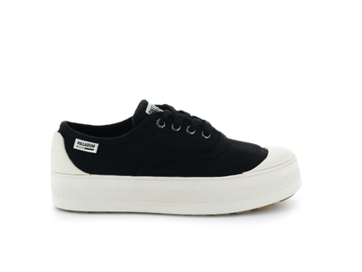 95768-030-M | WOMENS S_U_B LOW CANVAS | BLACK/MARSHMALLOW