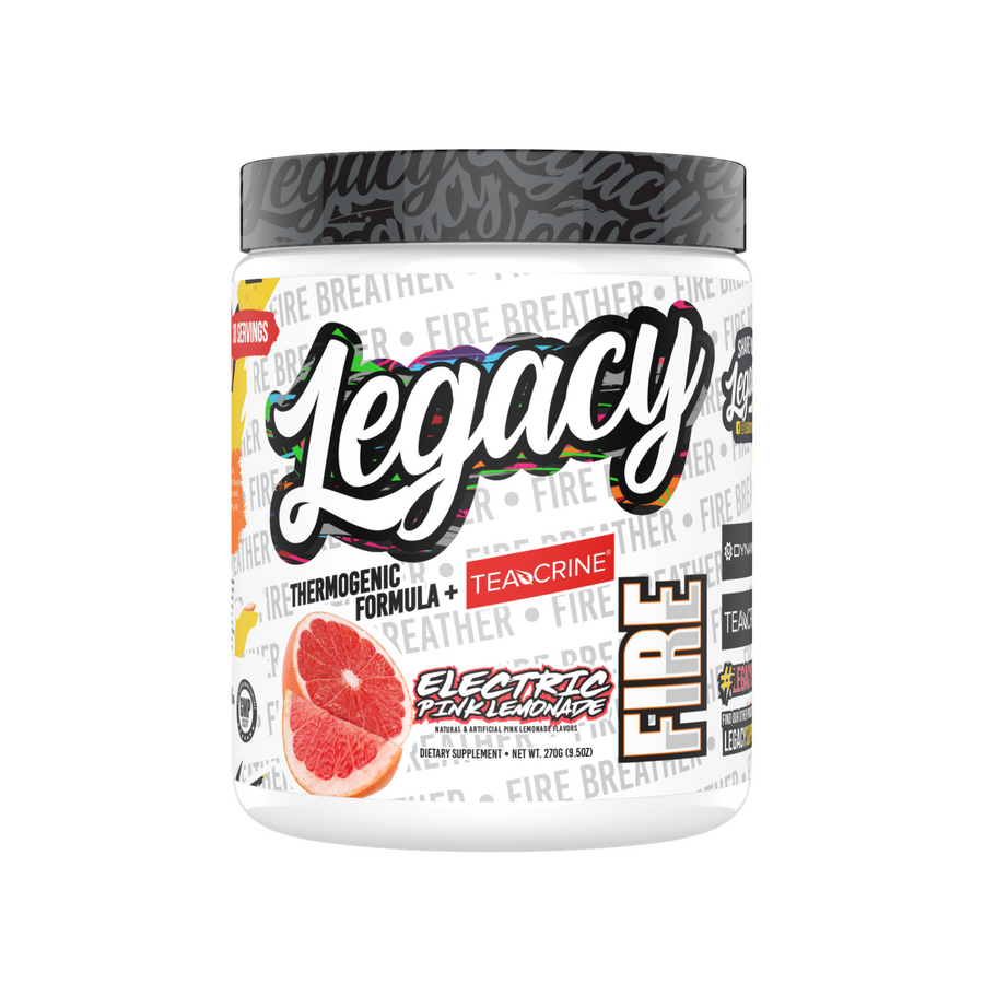 Legacy Fire Thermogenic Pre-Workout, Electric Pink Lemonade, 270g
