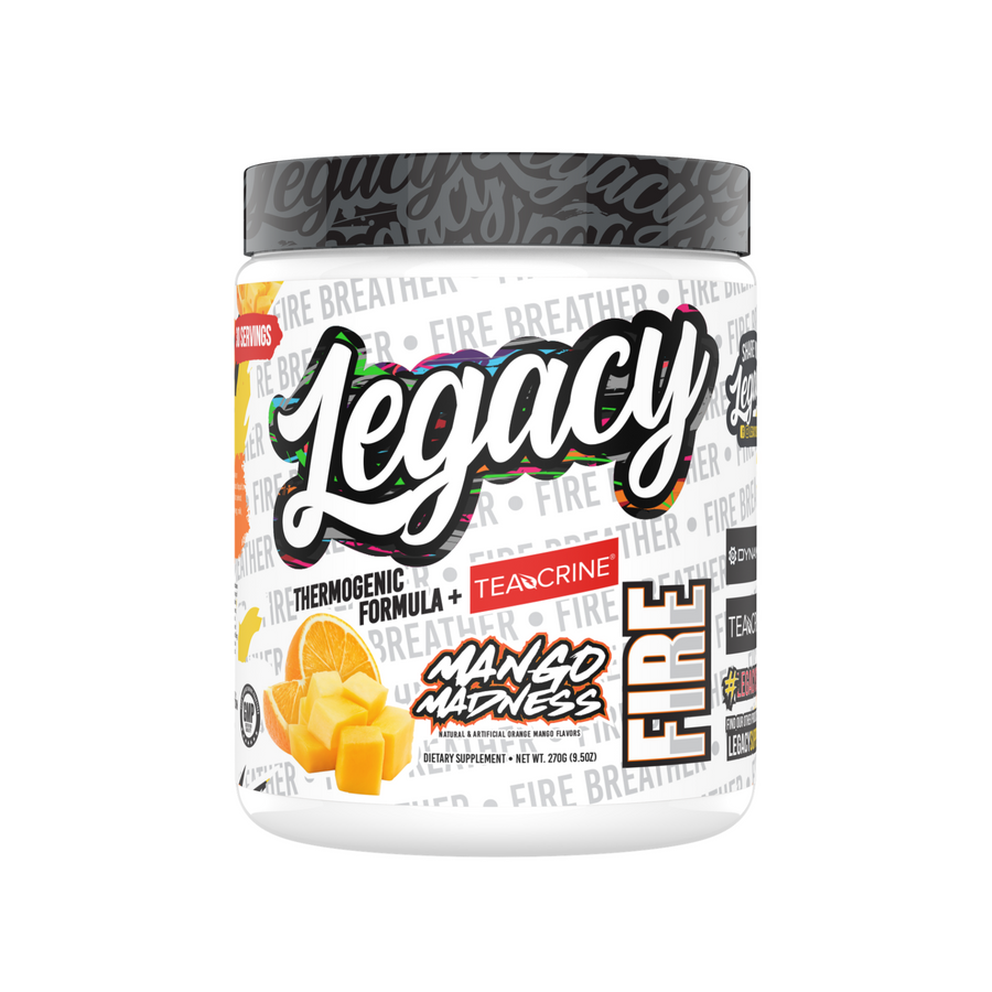 Legacy Fire Thermogenic Pre-Workout, Mango Madness, 270g