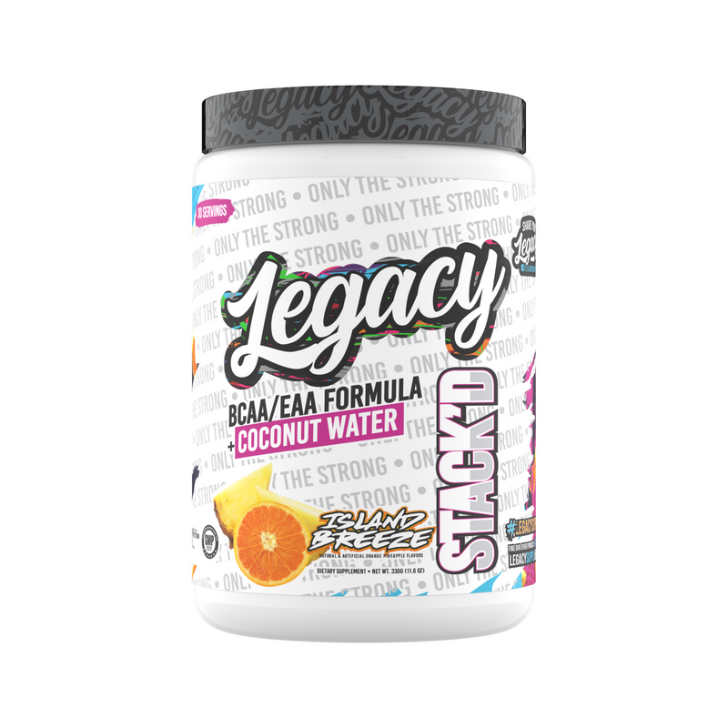 Legacy Stackd EAAs/BCAAs + Coconut Water Hydration Formula, Island Breeze