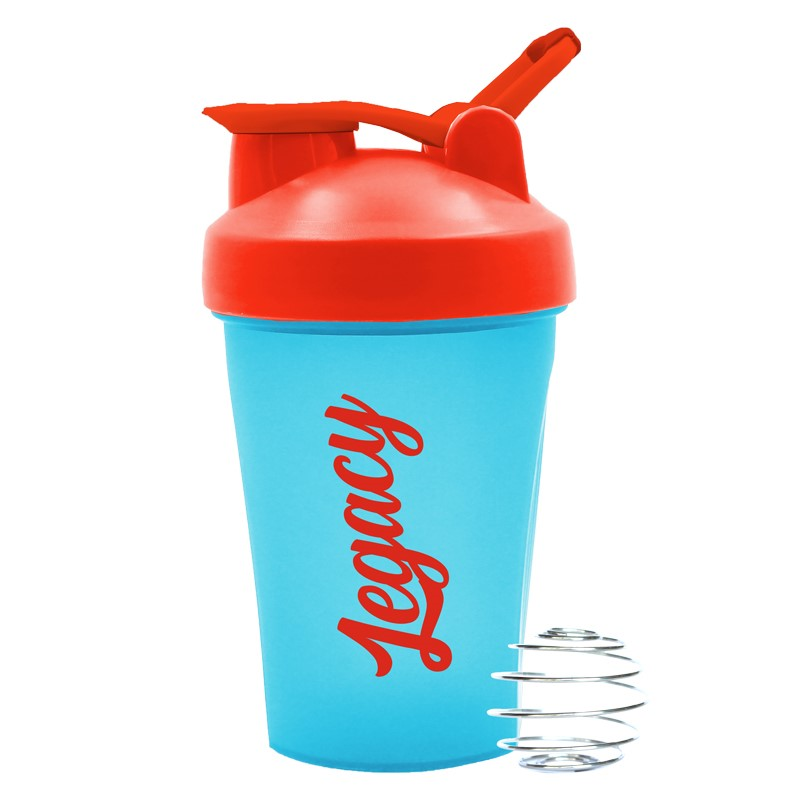 Legacy's Blue & Red Fresh Shaker Bottle blends your protein shakes to perfection.