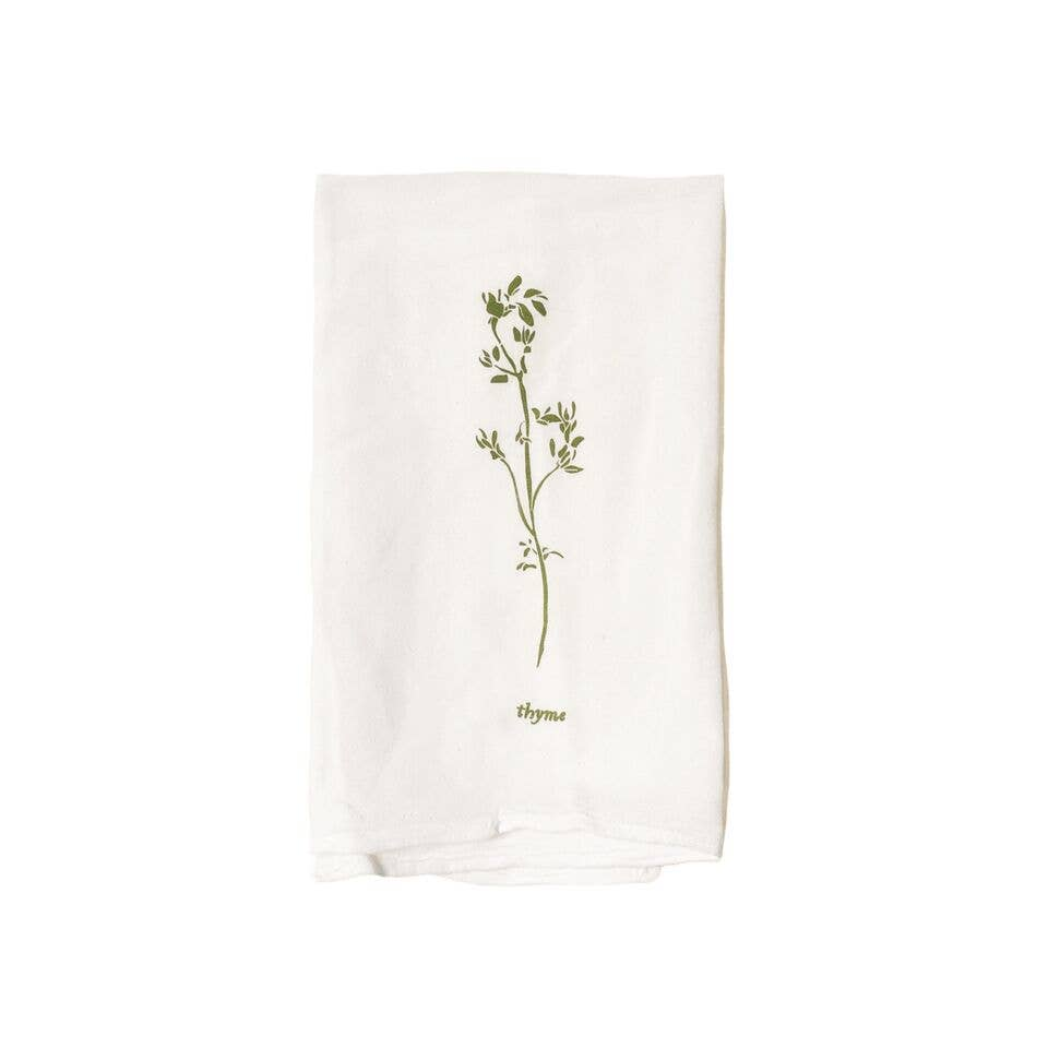 June and December Thyme Kitchen Towel - The Give Store