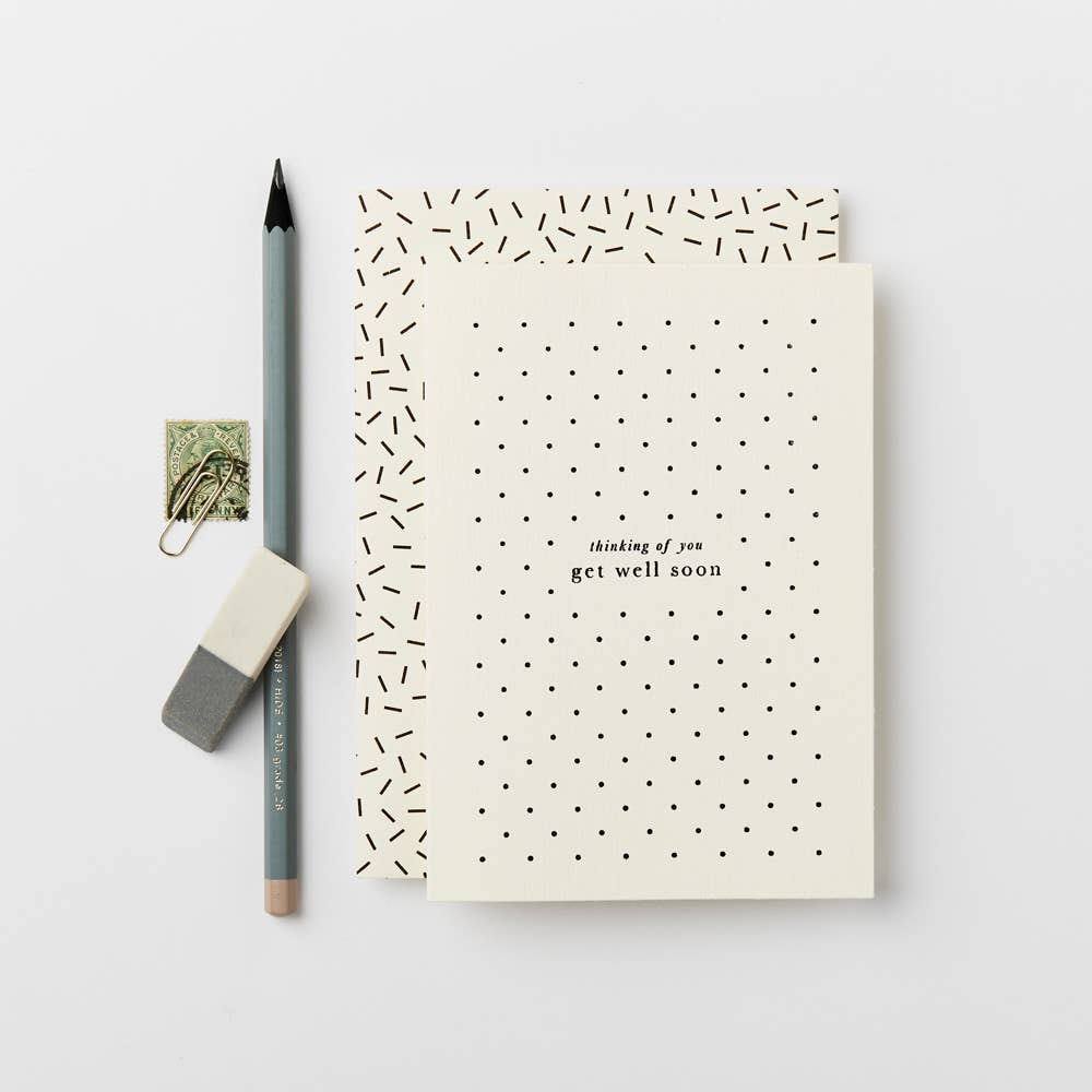Katie Leamon Get Well Polka Card - The Give Store