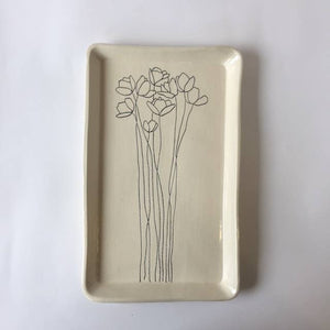 Tray with Cosmos Flowers - The Give Store