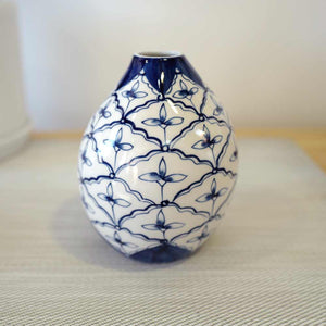 Blue and White Medium Bud Vase